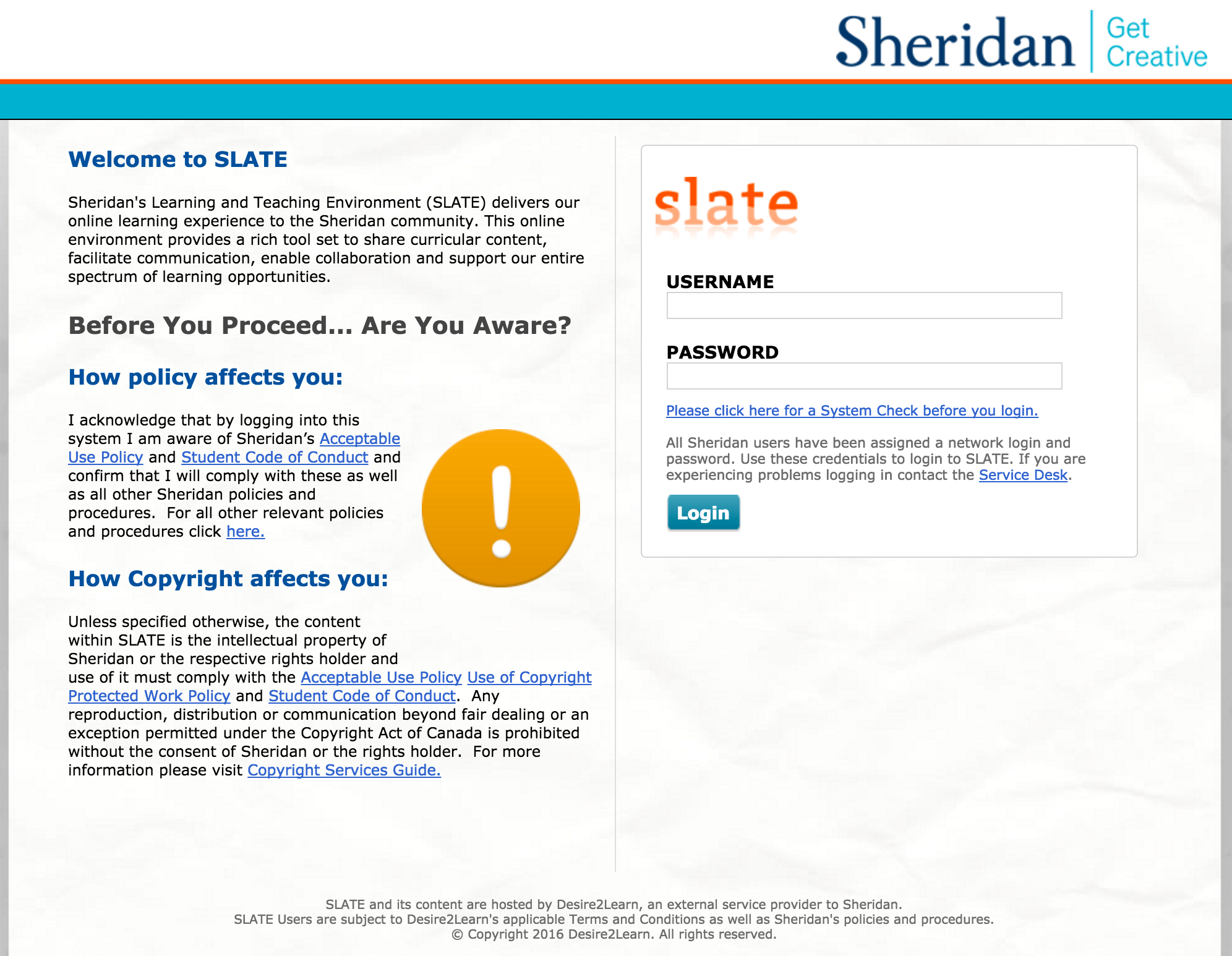 Logging Into Slate Teaching With Technology