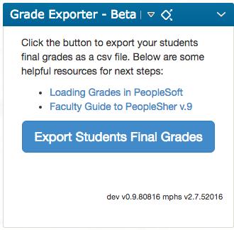 Grade Export