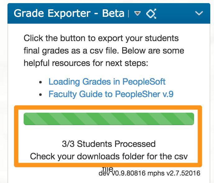 Grades Exporter